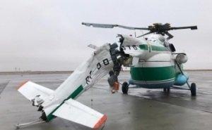 В Волгограде вертолёт снёс фонарный столб