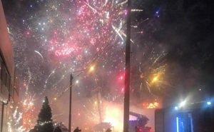 В Ростове сгорел павильон с пиротехникой