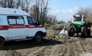 На Дону отрицают гибель мужчины из-за застрявшей в грязи «скорой»