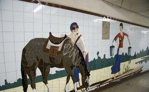 За ларьками в подземных переходах Ростова обнаружили уникальную мозаику