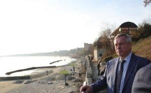 Голубев потребовал ускорить работы на набережной Таганрога